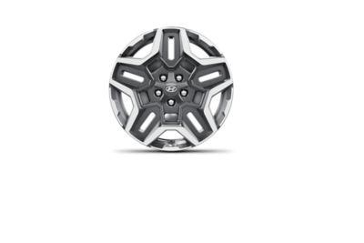 """Las nuevas llantas de aleación de 19"""" del Hyundai SANTA FE Híbrido de 7 plazas."""