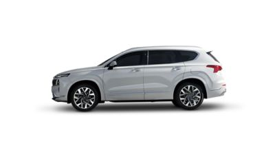 A picture of the new Hyundai Santa Fe featuring the new Luxury Package exterior design updates.