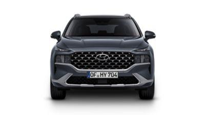 Imagen de los nuevos faros y parachoques del nuevo Hyundai SANTA FE Híbrido.