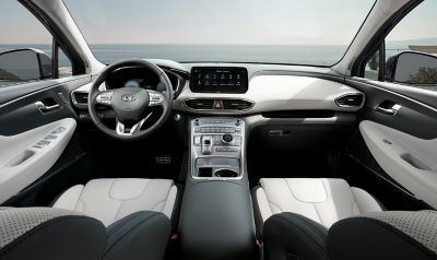 A picture of the new Hyundai Santa Fe's premium interior design.