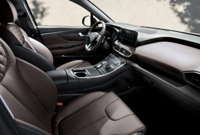 Wnętrze samochodu Hyundai SANTA FE Plug-in Hybrid.