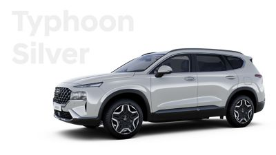 The exquisite exterior colours of the new Hyundai SANTA FE Hybrid: Typhoon Silver