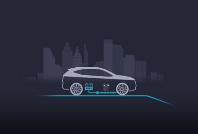 Silnik elektryczny wspomagający przyspieszenie nowego kompaktowego SUV-a Hyundai TUCSON Plug-in Hybrid.