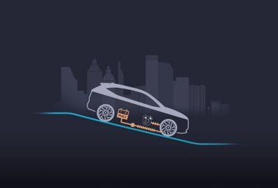 Układ rekuperacji ładuje akumulator podczas zwalniania nowego kompaktowego SUV-a Hyundai TUCSON Plug-in Hybrid.