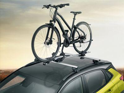 Pro takmontert sykkelholder. Foto.
