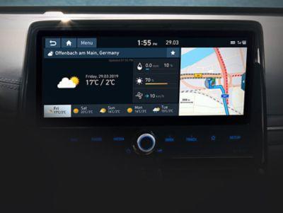 """Dettaglio del Touchscreen da 10,25"""" di Nuova Hyundai IONIQ Electric."""
