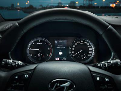 Tretthetsvarsler i bil. Foto.