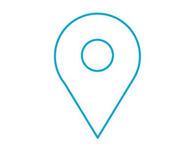 An icon of a location showing the find my car function of the new KONA Hybrid.