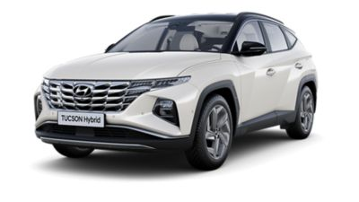 Cutout image of the all-new Hyundai Tucosn Hybrid.
