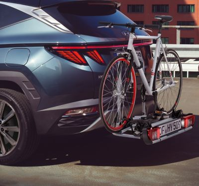 Genuine accessories bike carrier for all tow bars for the Hyundai TUCSON.