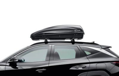 Genuine Accessories roof box for the Hyundai TUCSON.