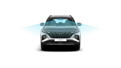 Hyundai TUCSON a detail na přední kameru