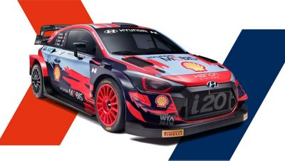 Front right side view of Hyundai i20 Coupe WRC