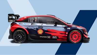 Side-view of Hyundai i20 Coupe WRC