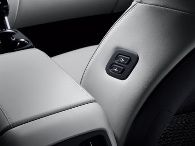 The walk-in device in the all-new Hyundai Tucson Hybrid compact SUV allowing easy entry and comfort.