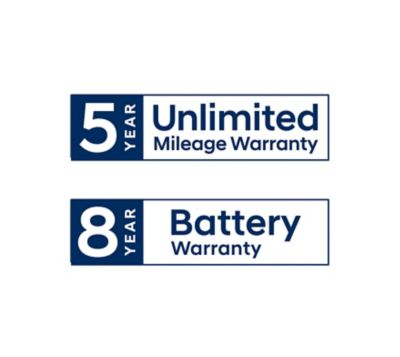 Hyundai 5 year unlimited mileage warranty.