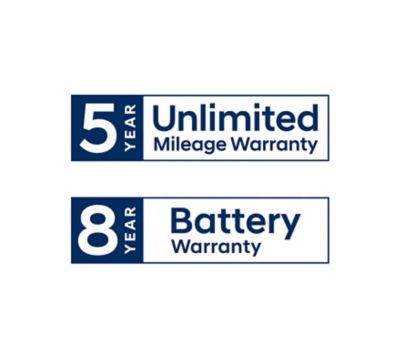 Hyundai 5 year unlimited mileage warranty logo.