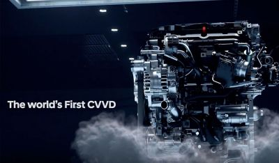 A video of the Continuously Variable Valve Duration engine technology in the new Hyundai Santa Fe Hybrid.