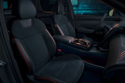 View of the all-new Hyundai TUCSON N Line front seats.
