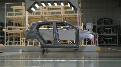 Karosseri på Hyundais fabrikk i Tyrkia. Foto.