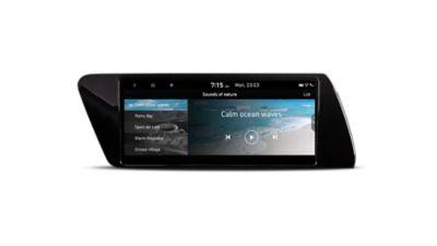 Imagen de la pantalla de los modos de conducción en el nuevo menú de navegación del Hyundai i20