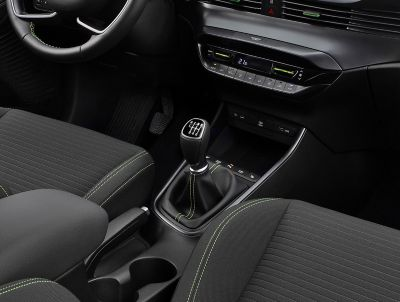 An image of the all-new Hyundai i20's intelligent manual transmission gear shifter.