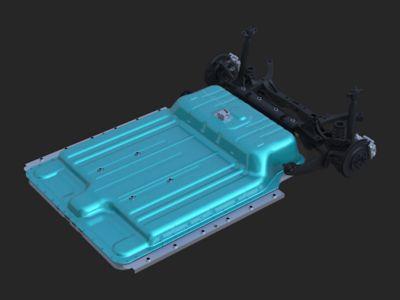 Immagine della batteria ai polimeri di litio di Nuova Hyundai Kona Electric.