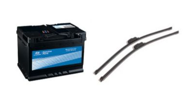 Baterie a stěrače