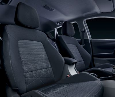 Passenger seat with a lot of head room in the all-new Hyundai Bayon.