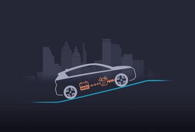 Acceleratie van de Hyundai BAYON, de nieuwe, compacte crossover-SUV.