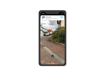 Screenshot di app Bluelink su iPhone: Last Mile Navigation.