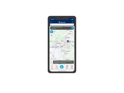 Screenshot di app Bluelink su iPhone: trova la mia auto.