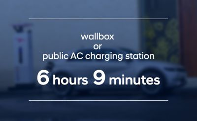 The Hyundai IONIQ 5 long-range battery loads in 6 hours and 9 minutes at an AC charging station.