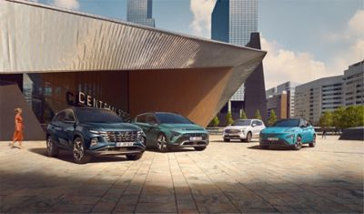 Hyundai model range of TUCSON, BAYON, KONA and SANTA FE.