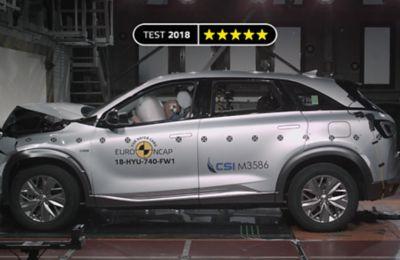 Hyundai NEXO při crash testu - čelní náraz
