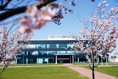 Hyundais bilfabrikk i Tsjekkia. Foto.