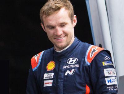 Close-up of Hyundai Motorsport co-driver Martin Järveoja