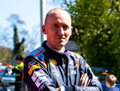Paul Nagle in an interview in the Rally Arctic Finland.