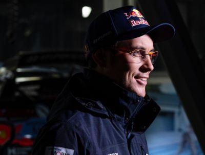 Hyundai Motorsport driver Thierry Neuville being interviewed