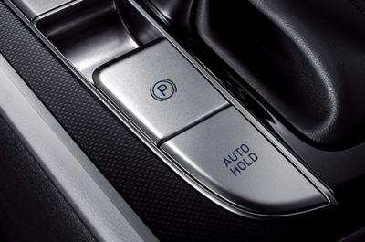 Nowy Hyundai Elantra - elektryczny hamulec postojowy sterowany przyciskiem.