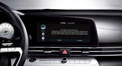 Spersonalizowany profil na ekranie nawigacji Nowego Hyundaia Elantra.