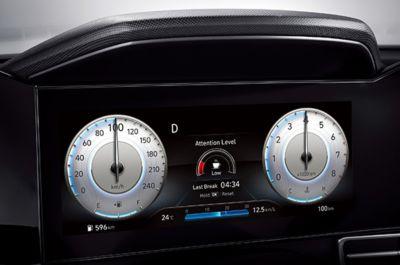 System DAW na cyfrowym zestawie wskaźników Nowego Hyundaia Elantry