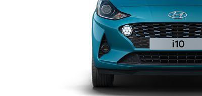 Hyundai i10 close up dagrijverlichting.