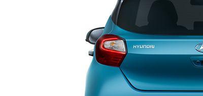 Hyundai i10 close up achterlichten.