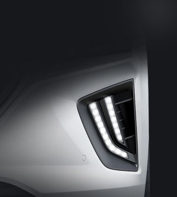 A close up look at the Hyundai IONIQ Hybrid's new LED Daytime Running Lights.