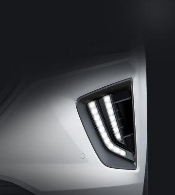A close up look at the Hyundai IONIQ Hybrid'snew LED Daytime Running Lights.
