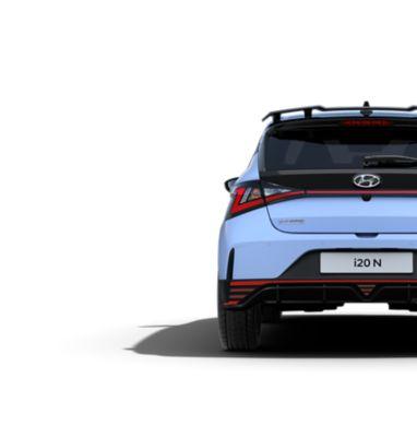 An image of the triangular rear fog lights on the all-new Hyundai i20 N.