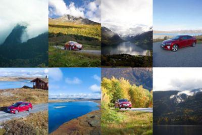 IONIQ Electric på vei fra Oslo til Bergen i oktober.