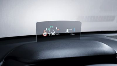 Display Head-up (HUD) di Nuova Hyundai Kona Electric.