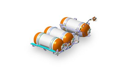 Waterstoftanks van Hyundai's waterstofmodellen.